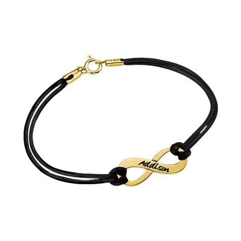 cadenas de oro 14k con nombre pulsera infinito con nombre chapada en oro 18k