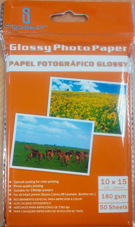 papier photo jet 180gr 10x15 50feuill brillant supports d impression bcs station service