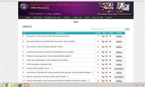 membuat web untuk ujian online download source code aplikasi ujian online dengan php