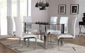 Chrome Dining Room Sets by Orion Amp Perth Chrome Amp Glass Dining Set White