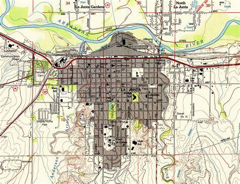 Map Duvet Cover Map Of La Junta Colorado Photograph By Mountain Dreams