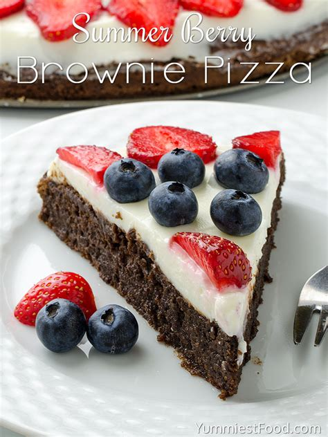 Summer Of Sandwiches Vanilla Berry Brownies by Summer Berry Brownie Pizza Recipe From Yummiest Food