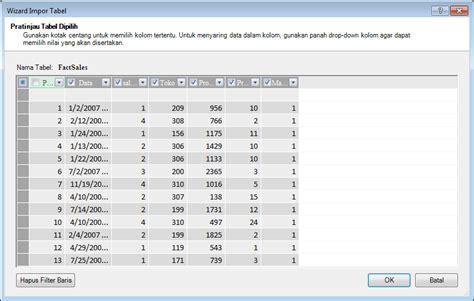 membuat database menggunakan excel membuat model data dengan memori yang efisien menggunakan