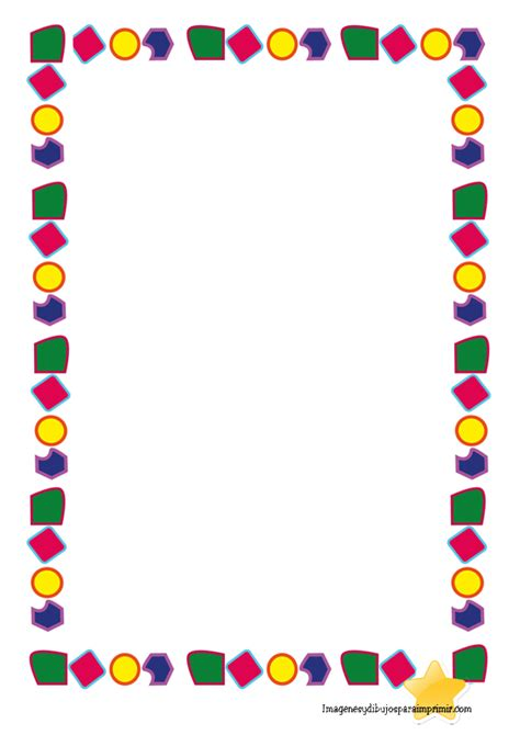 marcos para decorar hojas infantiles bordes para preescolar para word bordes