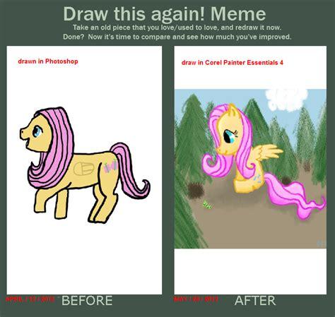 Mlp Fluttershy Meme - fluttershy draw again meme 2012 by who butt on deviantart
