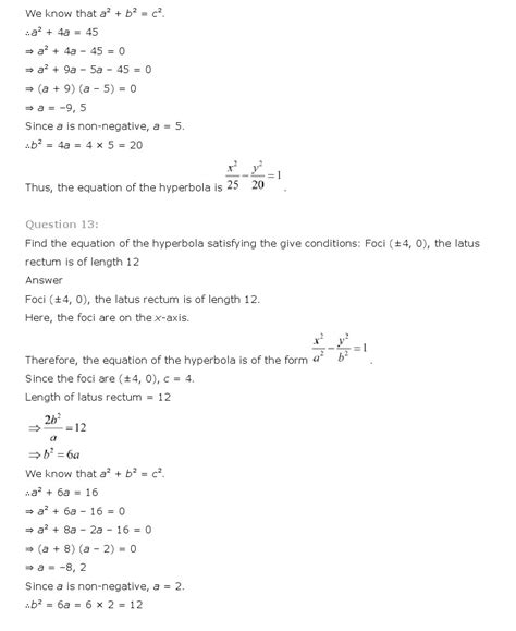 Conic Sections Class 11 by Ncert Solutions For Class 11th Maths Chapter 11 Conic Sections Aglasem Schools
