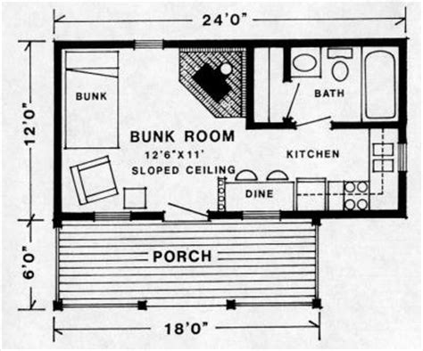 12x24 cabin floor plans trapper cabin plan
