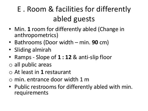 HRACC 5 Star Hotel Design Requirements,India