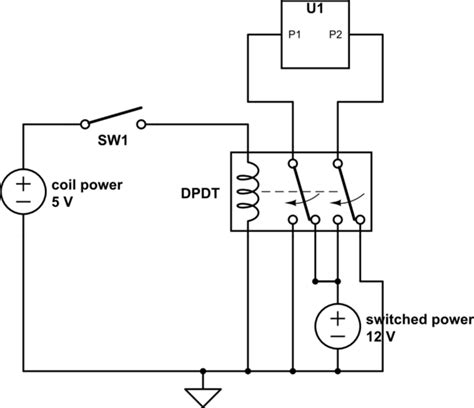 pole throw relay wiring diagram with flyback