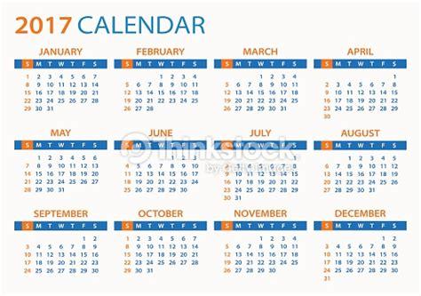 K Calendario Calendar 2017 Illustration Vector Thinkstock