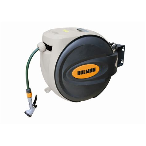 reel untuk sosis p 30m holman retractable hose reel 30m with spray gun bunnings