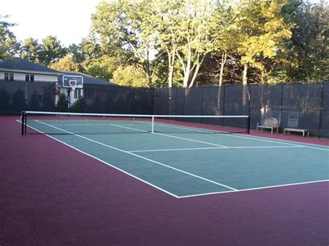 backyard tennis court cost cost to build a tennis court sport court of massachusetts