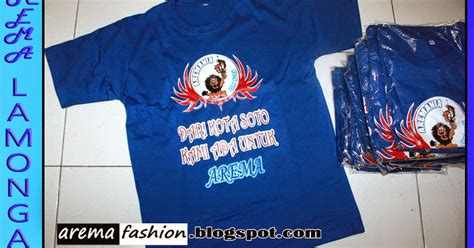 Jaket Bendera Baju arema fashion kaos arema gambar sablon