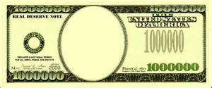 Million Dollar Bill Template by Blank Number Bills