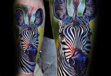 safari tattoo 40 zebra tattoos for safari striped design ideas