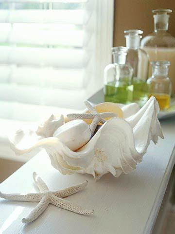 Decorating With Seashells by Cottage Flavor Decorating With Seashells