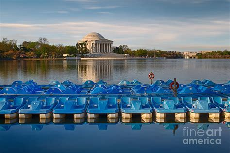 paddle boats jefferson memorial jefferson memorial and paddle boats photograph by jerry