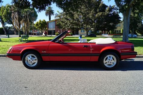 ford opal 1983 ford mustang glx opal red stock 293 for sale near