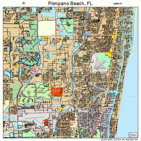 pompano beach florida street map 1258050
