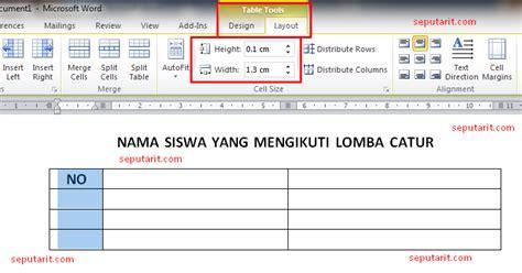 menu layout adalah menu untuk mengatur ini dia cara membuat tabel pada microsoft word dan