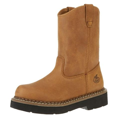 Outdoor Furniture Sale Sears - georgia work boots boys 6 quot pull on wellington leather brown gb202 clothing shoes amp jewelry