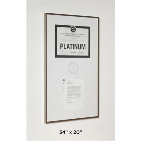 Certificate Frame Us Letter Leed Certificate Letter In Aluminum Frame Accessories Leed Green Plaque Green Plaque