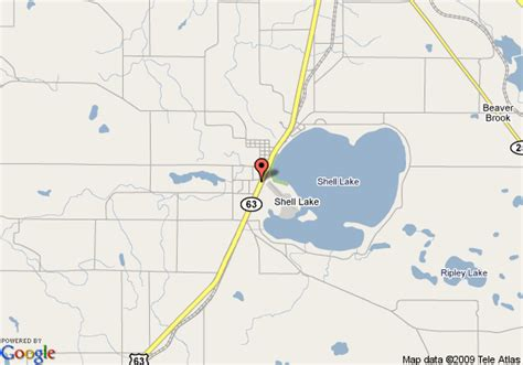 map of americinn of shell lake wi shell lake