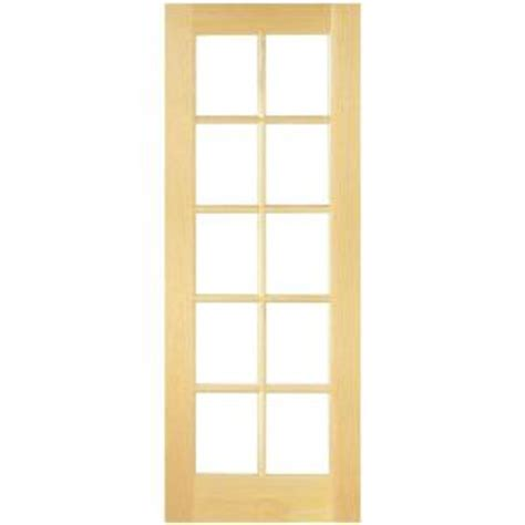 interior french doors home depot masonite 30 in x 80 in smooth 10 lite french solid core unfinished pine interior door slab