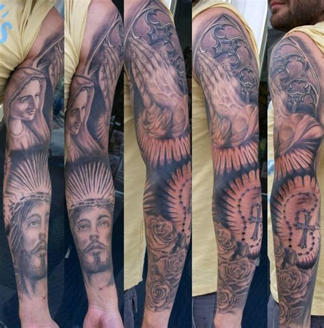 jesus tattoo sleeve pin religious tattoos arm 4 modern on