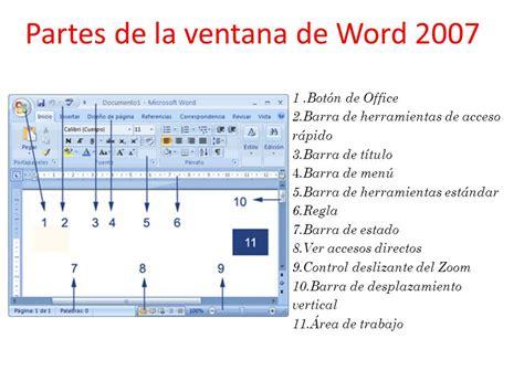 Partes De La Ventana De Microsoft Word Office De 2016 | partes de la ventana de microsoft word office de 2016