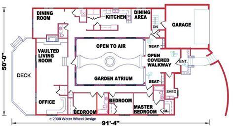 atrium floor plan garden atrium plan 3 bedrooms 2 5 baths let s build