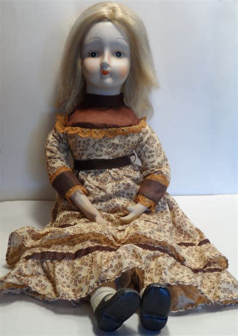 2 foot porcelain doll style walda bisque porcelain cloth painted