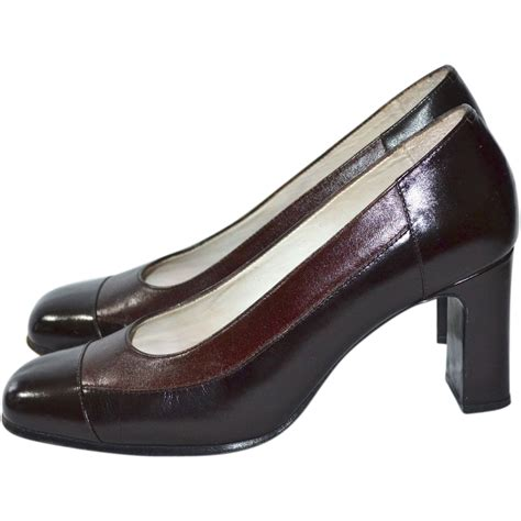 Heels Claudio 2 Brown ricaly chocolate brown two tone leather heels from