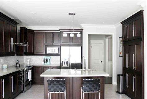 dark cabinets in kitchen dark maple kitchen cabinets quicua com