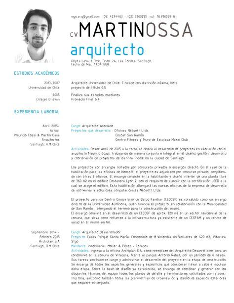 Modelo Curriculum Arquitecto Cv Arquitecto Los Libros Resumidos De Resumelibros Tk
