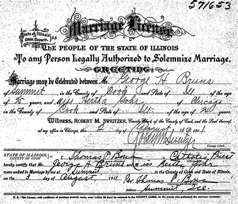 Marriage License Records Illinois Familypage Home