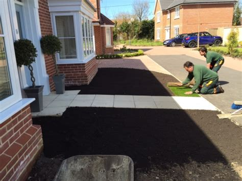 installing a new lawn and pathway d l landscapes ltd