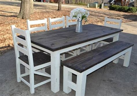 farmhouse table and bench set simply southern home d 233 cor we sell custom built farmhouse tables dining sets