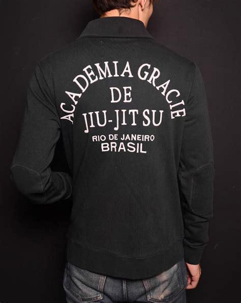 Jaket Hoodie Sweater Gracie Jiu Jitsu Academy roots of fight gracie academy cardigan sweater