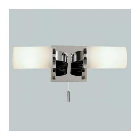 Bathroom Wall Lights With Switch Endon Enluce Dual Candle Wall Light With Pull Switch Chrome El 20023 At Plumbing Uk