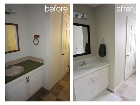 how to remodel a small bathroom before and after bathroom remodel another big bite