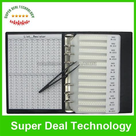 m 0805 resistor 0402 0805 0603 1206 smd mix resistor kit total 240values 5400pcs sle book 0r 20m