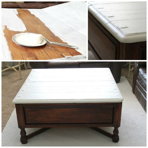 Two Tone Table by Two Tone Coffee Table Tutorial