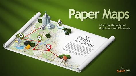 How To Make A Paper Map - paper maps the stage for your 3d maps and icons