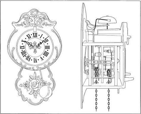 cuckoo clock parts diagram cuckoo clock plans plans free