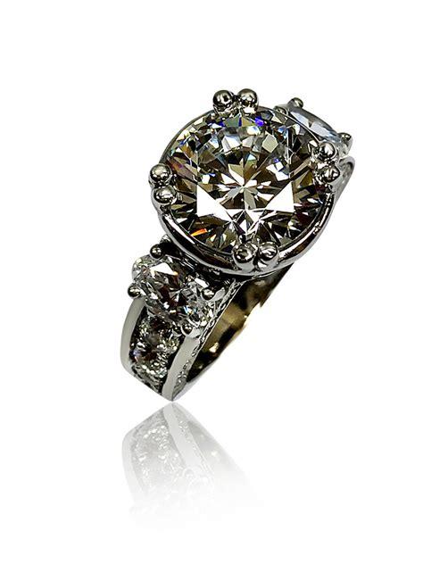 cubic zirconia 4 ct center engagement ring carat wedding