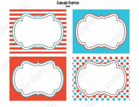 printable templates labels 6 best images of printable food labels template free