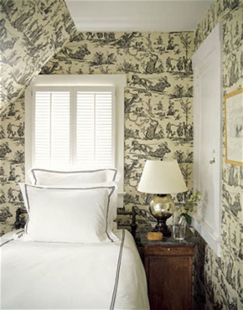 toile wallpaper bedroom decorica timeless toile