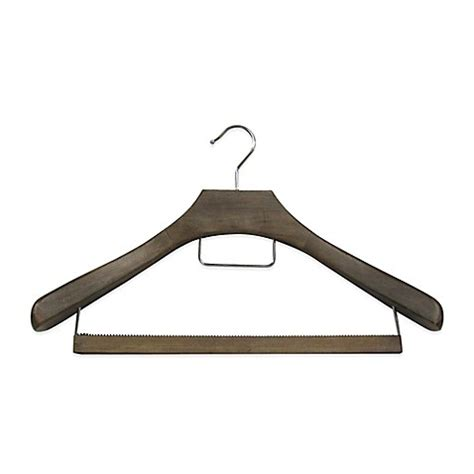 hangers bed bath and beyond refined closet suit hanger with non slip wooden bar in