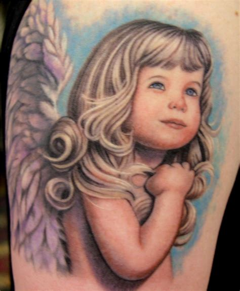 realistic angel tattoo designs baby arm designs for only tattoos